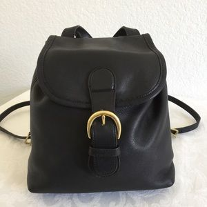 Vintage coach black mini backpack